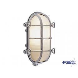 Forkrommet messing Oval lampe 235 x 165 mm 60W 220V